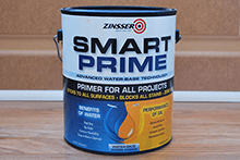 Smart Prime by Zinsser is a good water based primer.  It drys fast and covers well