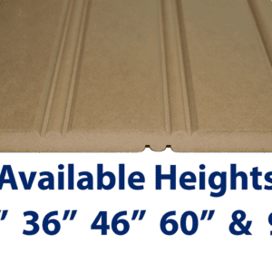 "American Beadboard Panel is available in 30"", 36"", 46"" 60"" and 94"" heights. Custom heights also available up to 109"""