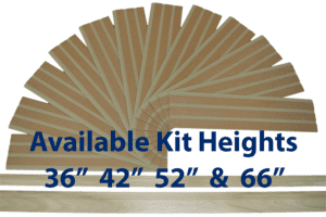 "Moisture Resistant Beadboard Kits Available in 36"", 42"", 52"" and 66"" heights. Include Poplar wood Top Cap Chair Rail and Baseboard"