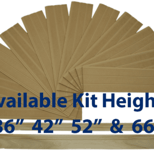 "Premium Beadboard Kits Available in 36"", 42"", 52"" and 66"" heights. Include Poplar wood Top Cap Chair Rail and Baseboard"