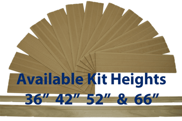 """Premium Beadboard Kits Available in 36"""", 42"""", 52"""" and 66"""" heights. Include Poplar wood Top Cap Chair Rail and Baseboard"""