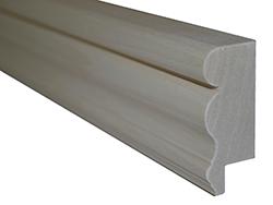 "2 1/2"" Top Cap Molding made from Poplar Wood"