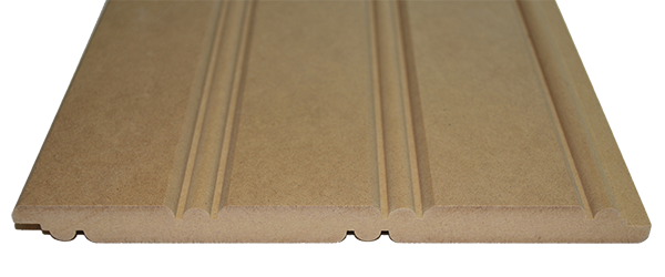 American Beadboard Panel made from premium MDF Close up cross section view