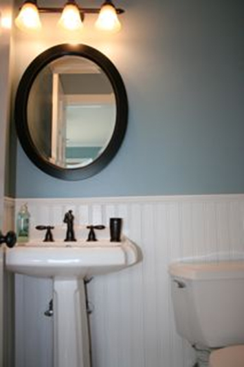Beadboard in a bathoom in Lake Orion Michigan by AmericanBeadboard.com