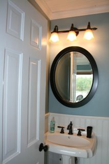Beadboard in a bathroom in Lake Orion Michigan by AmericanBeadboard.com